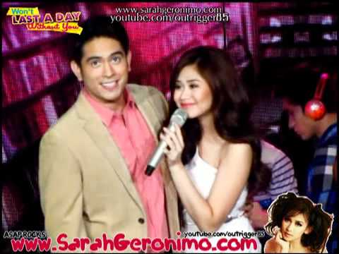 Sarah Geronimo & Gerald Anderson - Won't Last A Day With You Promo [SOS] OFFCAM (27Nov11)