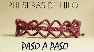 getlinkyoutube.com-pulseras de hilo ancha | tutorial macrame | frienships bracelets