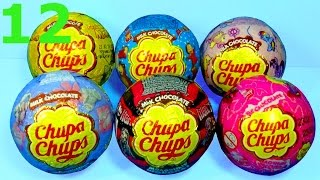getlinkyoutube.com-12 surprise eggs Chupa Chups Maya the Bee MONSTER HIGH Tatty Teddy SUPERMAN Disney PRINCESS for baby