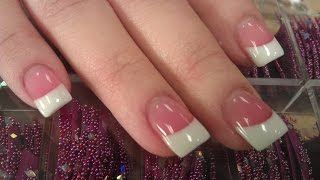 getlinkyoutube.com-HOW TO PERFECT SOLAR PINK AND WHITE NAILS PART 1 backfill