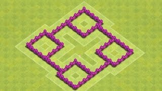 getlinkyoutube.com-Clash Of Clans - Best Town Hall 4 Clan Wars Base/ Trophy Base (Speed-Build)