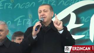 Cumhurbaşkanı Recep Tayyip Erdoğan Erzincan'a Geldi