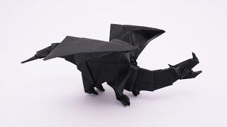 getlinkyoutube.com-Origami Devil Dragon v2 (Jo Nakashima) - Dragon #10