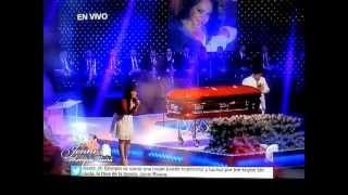 "getlinkyoutube.com-Jenni Rivera Funeral Service ~Jackie le canta a su madre ""Tu Estas Aqui"""