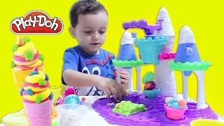 Play-Doh Castelo de Sorvete de Massinha! Dough Ice Cream Castle set for kids
