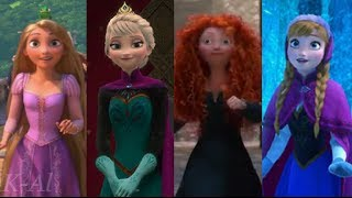 getlinkyoutube.com-Let It Go: A Tribute to 3D Disney Princesses