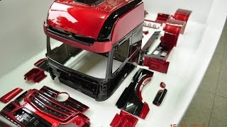getlinkyoutube.com-tamiya 1/14 man.scania.benz 1851 Body Painting