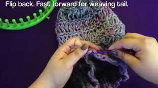 getlinkyoutube.com-Loom Along Spring Breeze Slouchy Hat with Closed Captions (CC)
