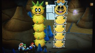 getlinkyoutube.com-【3DS】マリオ&ルイージRPG ペーパーマリオMIX でかサンボ &ペーパーボスサンボ戦