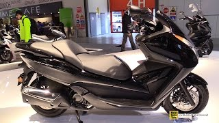 getlinkyoutube.com-2015 Honda Forza 300 Scooter - Walkaround - 2014 EICMA Milan Motorcycle Exhibition
