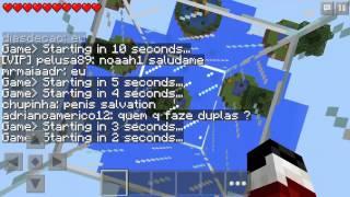 getlinkyoutube.com-¡¿USO HACKS?! - Minecraft PE Sky Wars