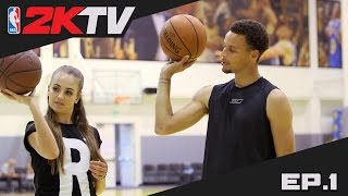 getlinkyoutube.com-NBA 2KTV S2. Ep. 1 - Steph Curry Shares Shooting Advice & 2K16 Gameplay Tips