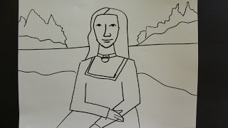 getlinkyoutube.com-Kids Can Draw: Easy Mona Lisa For Young Kids.