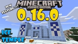 getlinkyoutube.com-ICE TEMPLE in Minecraft PE (New Feature???) - Ice Temple and Ice Village Map
