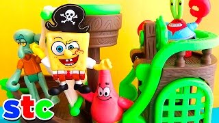 getlinkyoutube.com-Bob Esponja Barco Pirata Imaginext