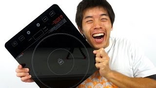 getlinkyoutube.com-火力抜群!100V用IHクッキングヒーター   IH EIH-14