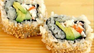 getlinkyoutube.com-How To Make Sushi - Special California Rolls