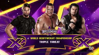 getlinkyoutube.com-WWE 2K15- Brock lesnar vs Roman Reigns vs Seth Rollins For World Heavyweight Champion (PS4)