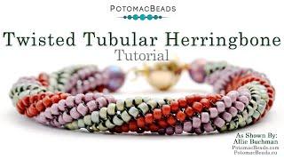 getlinkyoutube.com-Twisted Tubular Herringbone Stitch
