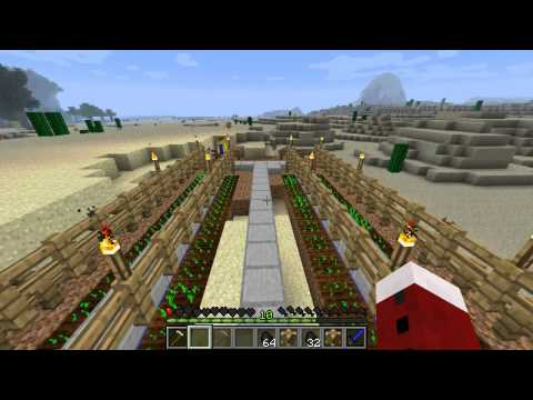 IndustrialCraft SolarPanels MiceWorkers Farm & Lumberjack Ep6 - Minecraft 1.1 Mods Series 1 Letsplay