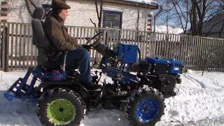 getlinkyoutube.com-Самодельный полноприводный мини трактор и его возможности