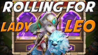 getlinkyoutube.com-Castle Clash Rolling For Lady Leo ( Full Reaction! )