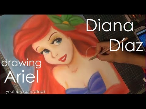 Speed Drawing: Ariel | Diana Díaz