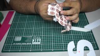 getlinkyoutube.com-Tutorial Silhouette - Montando Letras 3D - Letra  S