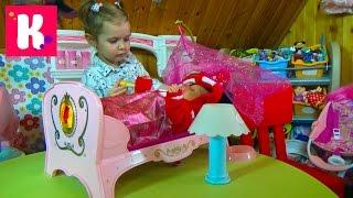 getlinkyoutube.com-Беби Борн игрушечная кроватка для куклы распаковка игрушки Baby Born doll toy cot