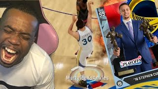 99 OVERALL STEPHEN CURRY BUZZER BEATER RED RELEASE HALF COURT! NBA 2k16 Gameplay #BreakTheGame