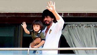 getlinkyoutube.com-Shahrukh Khan & Abram 50th BIRTHDAY Celebrations At Mannat