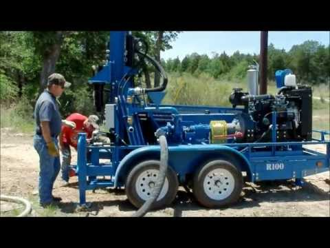 Portable RockBuster R100 Water Well Drilling Rig