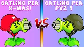 Plants vs Zombies: Gatling Pea PvZ-Xmas vs Gatling Pea PvZ 1