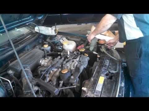 Radiator replacement Subaru Legacy Install Remove Replace How to