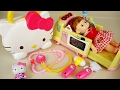 Hello Kitty and Baby doll Hosptal doctor kit toys play Ambulance