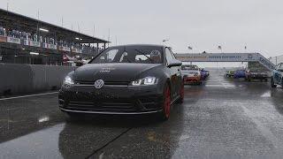 getlinkyoutube.com-Forza Motorsport 6 - Qualifying Series: 2014 Volkswagen Golf R Gameplay (WET) [1080p 60FPS]
