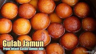 getlinkyoutube.com-Gulab Jamun Recipe / Instant Gulab Jamun from mix(Gits, Mtr) - How to make Perfect Gulab Jamun