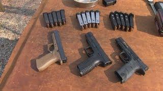 getlinkyoutube.com-M&P Pro  vs Glock 34  vs  XDm  5. 25