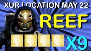 "getlinkyoutube.com-★ Destiny - ""XUR REEF LOCATION"" ""MAY 22"" ""XUR INVENTORY"" ""NEW EXOTIC NIGHTHAWK"" ""EXOTIC OPENING X 9"""