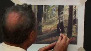 getlinkyoutube.com-How to paint sunlight beaming through a forest