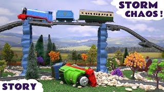 getlinkyoutube.com-Thomas and Friends Accident and Rescue Story With Paw Patrol and Play Doh Diggin Rigs Storm Chaos