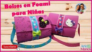 getlinkyoutube.com-Bolsos Para Niñas en Foami o Goma Eva - Bags girl in foam