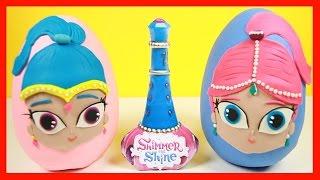 getlinkyoutube.com-Kinder Egg, PJ Masks and Paw Patrol Wishes Granted by Shimmer & Shine