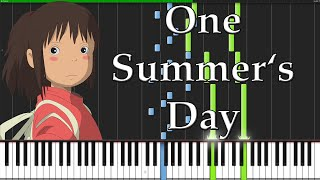 getlinkyoutube.com-One Summer's Day - Spirited Away [Piano Tutorial] (Synthesia)