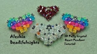 getlinkyoutube.com-3D Puffy Crystal Heart Pendant Tutorial