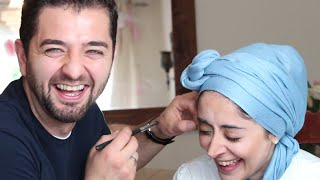 HUSBAND DOES MY MAKEUP (MUST WATCH)