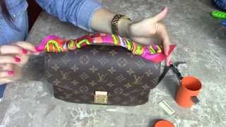 getlinkyoutube.com-Louis Vuitton Pochette METIS/ HOW I TIED Hermes Twilly
