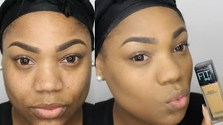 Maybelline Fit Me Matte Poreless Foundation Review & Demo | Charlion Patrice