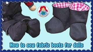 DIY | How to sew slouchy fabric boots for your doll | Sami Dolls Tutorials