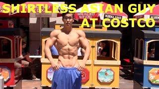 getlinkyoutube.com-SHIRTLESS ASIAN GUY AT COSTCO!?